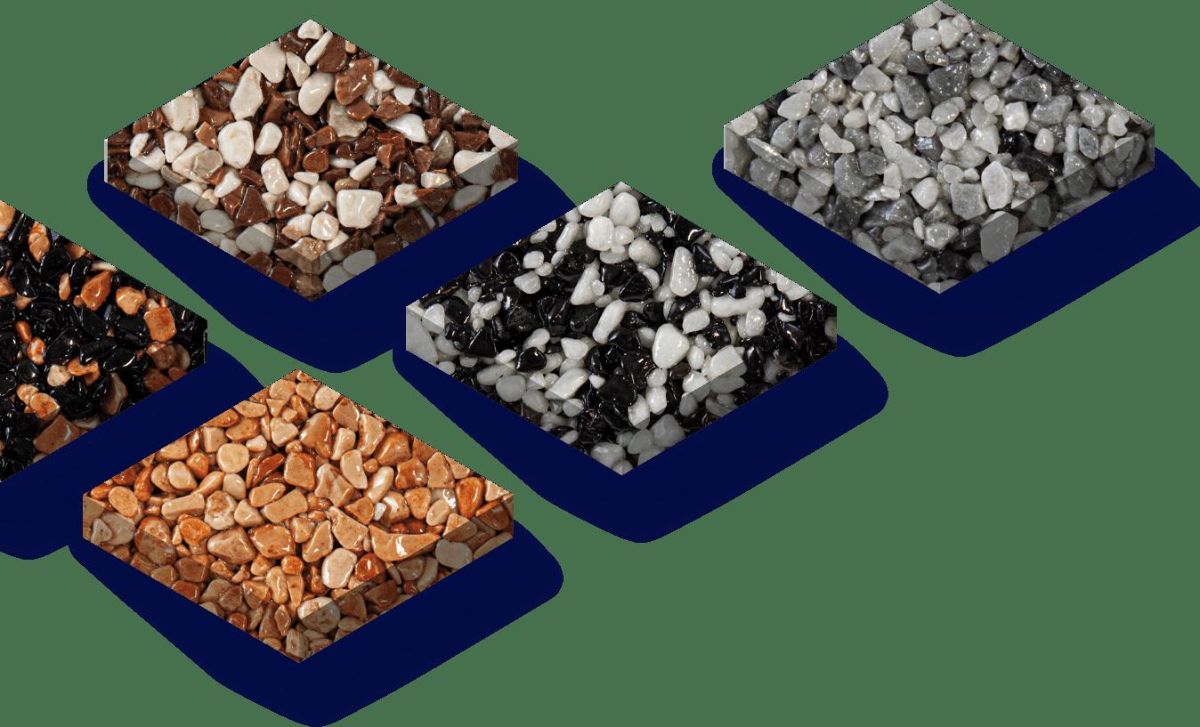 Exemples de couleurs de revêtement en marbre et résine par Belaribi Résine