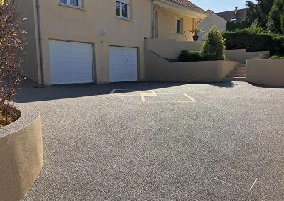 Allée de garage à Pouligney