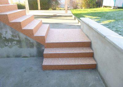 Escalier à Chaux-la-Lotière