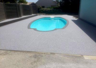 Plage de piscine à Besançon