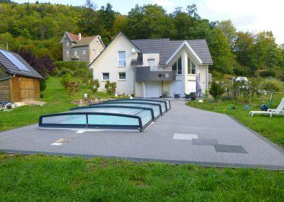 Plage de piscine à Plancher-les-Mines