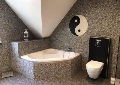 Salle de bain / toilette en marbre et résine